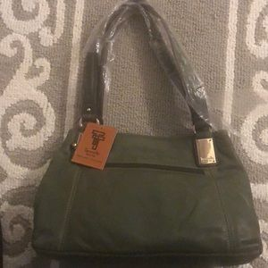 Tignanello olive green purse